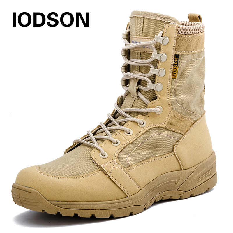 036be306fa0 Fashion Army Boots Men Military Boots Tactical Combat Boots Waterproof  Summer/Winter Desert Boots Size 35-46 IDS658