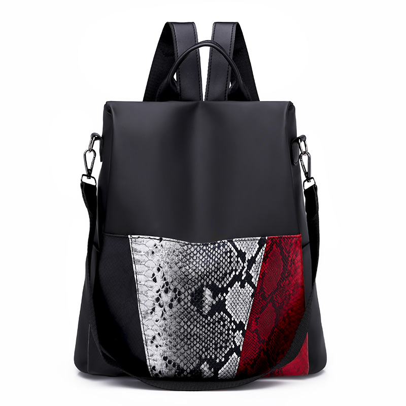 6d4a606ecc6 2018 New Snake Leather Women Backpack Female Fashion Rucksack Brand  Designer Ladies Back Bag High Quality Serpentine School Bag