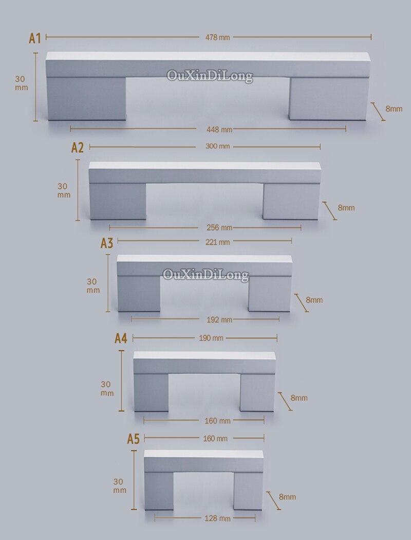Top Designed 6PCS European Cabinet Pulls Handles Cupboard Wardrobe Drawer Cabinet Kitchen Door Handles Knobs Furniture Hardware in Cabinet Pulls from Home Improvement