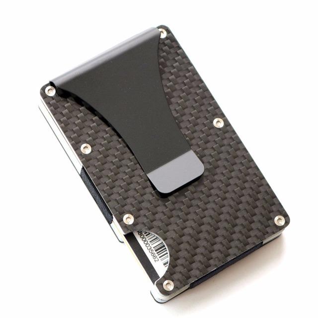 2018 new design minimalist wallet rfid blocking for men carbon fiber wallet credit card holder