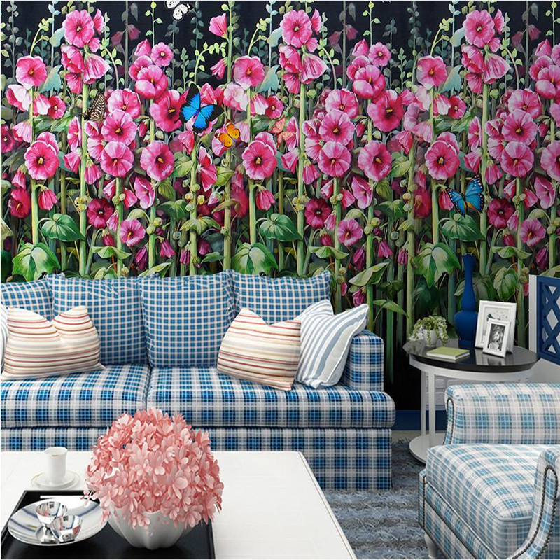 3D Wall Murals Wallpaper Flower HD Photo Wallpaper for Living Room TV Backdrop Wall Sticker Oil Painting Wall Mural Wallpaper 3D flower bridge river pattern 3d wall art sticker