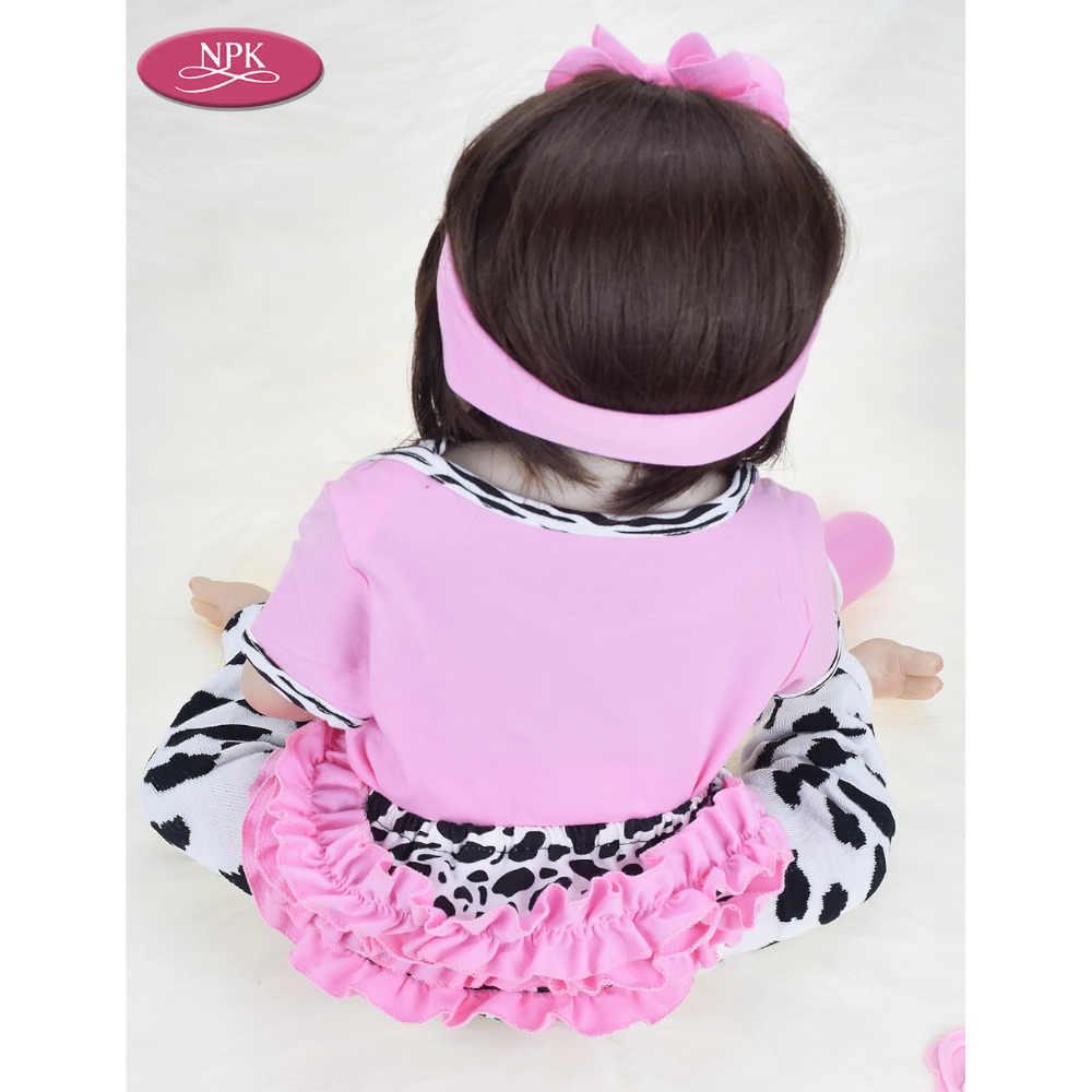 Npk real 57 cm de corpo inteiro silicone menina reborn bebês boneca banho brinquedo lifelike recém-nascido princesa bebê boneca bonecas bebe renascer menina