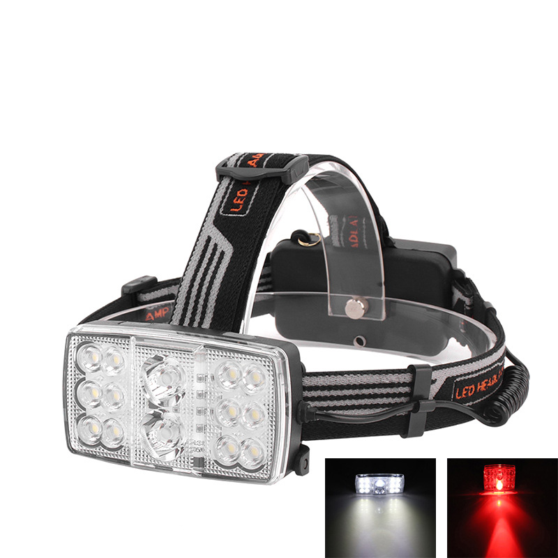 где купить Boruit B23 14LED White Light+Red Light USB Rechargeable LED Headlamp (Headlamp+2x18650+USB Cable) дешево