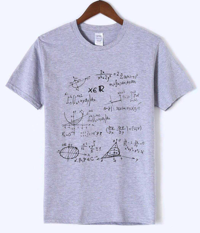 T-shirt 2018 summer Mathematical Formula men's T-shirts The Big Bang Theory t shirt men sportwear brand-clothing top tees cotton