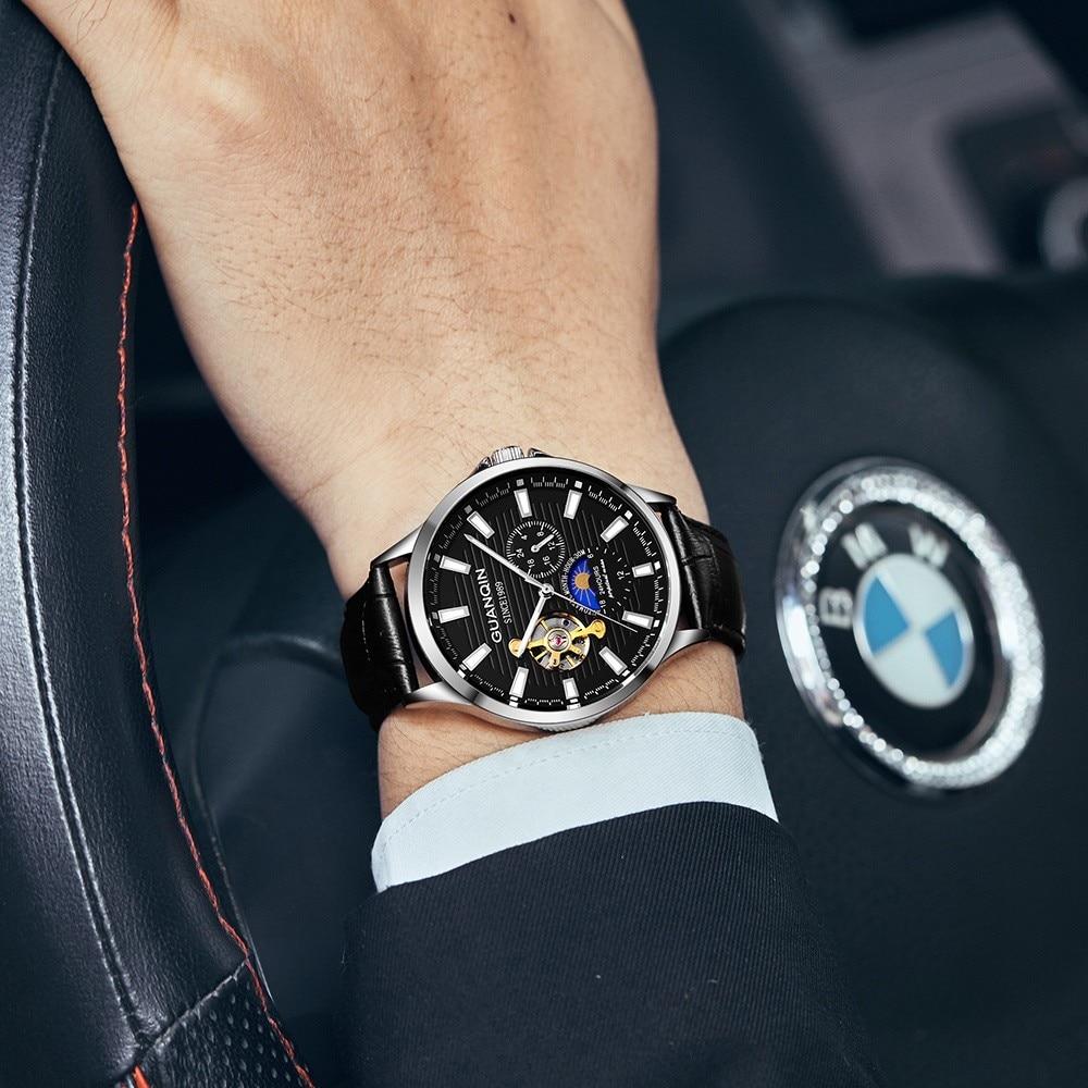 HTB1XPmaKr1YBuNjSszeq6yblFXad GUANQIN 2019 new watch men waterproof Automatic Luminous men watches top brand luxury skeleton clock men leather erkek kol saati