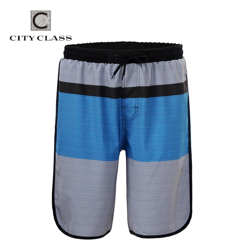 City Class 2018 Mens 여름 신작 와일드 루즈 비치 반바지 레귤러 버뮤다 Masculina 유럽 크기 Boardshorts 1755