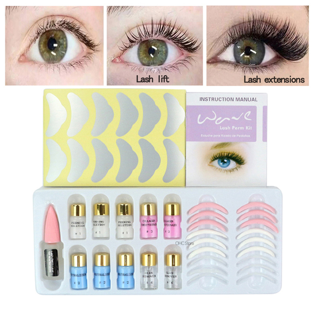 US $25 01 25% OFF|Lash Lift Eyelash Perming Kit Lift Perm Set With Rods  Glue Professional Cilia Extension Lashes Permanent Beauty Make Up Tools -in