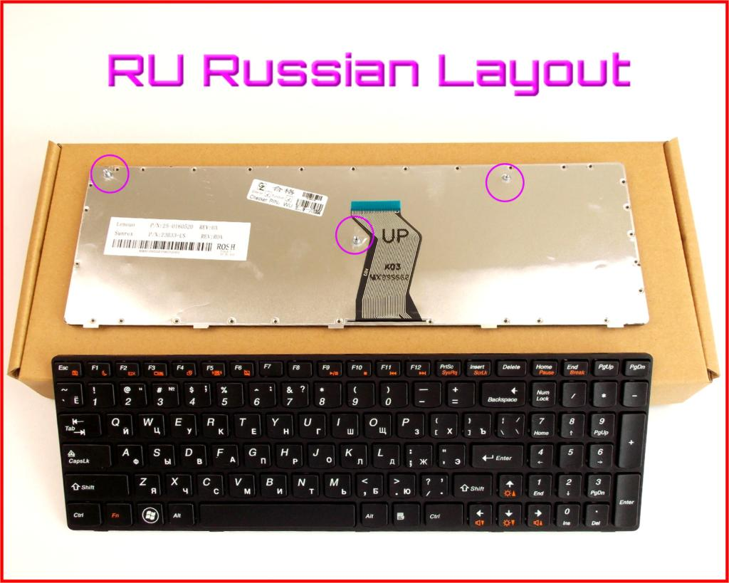 Keyboard RU Russian Version for LENOVO IdeaPad G560A G560L G560 G 560 G565 0679 Laptop With Frame