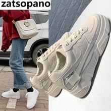 Zatsopano White Sneakers Women Canvas Shoes Fashion Vulcanize Summer Casual Zapatillas Mujer