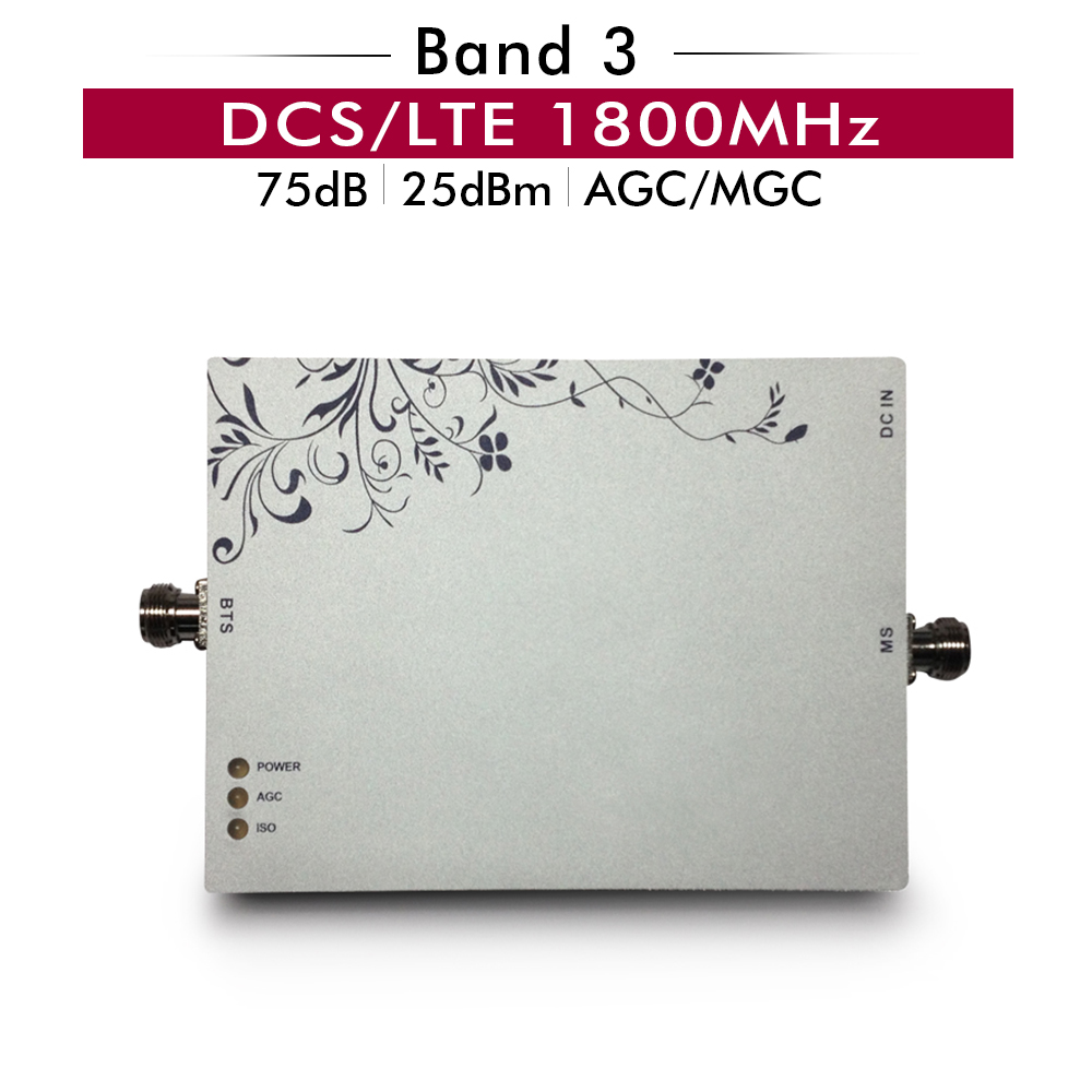 75dB Gain DCS/LTE 1800 Signal Repeater LTE Band 3 DCS 1800mhz Powerful Cell phone Signal Amplifier AGC MGC Mobile Signal Booster75dB Gain DCS/LTE 1800 Signal Repeater LTE Band 3 DCS 1800mhz Powerful Cell phone Signal Amplifier AGC MGC Mobile Signal Booster