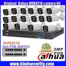 Dahua 16-КАНАЛЬНЫЙ 5MP POE Комплект POE NVR4216 16 ШТ. 3mp POE Ip-камера IPC-HFW4300R-Z P2P Облачный Сервис Системы ВИДЕОНАБЛЮДЕНИЯ Видео наблюдения