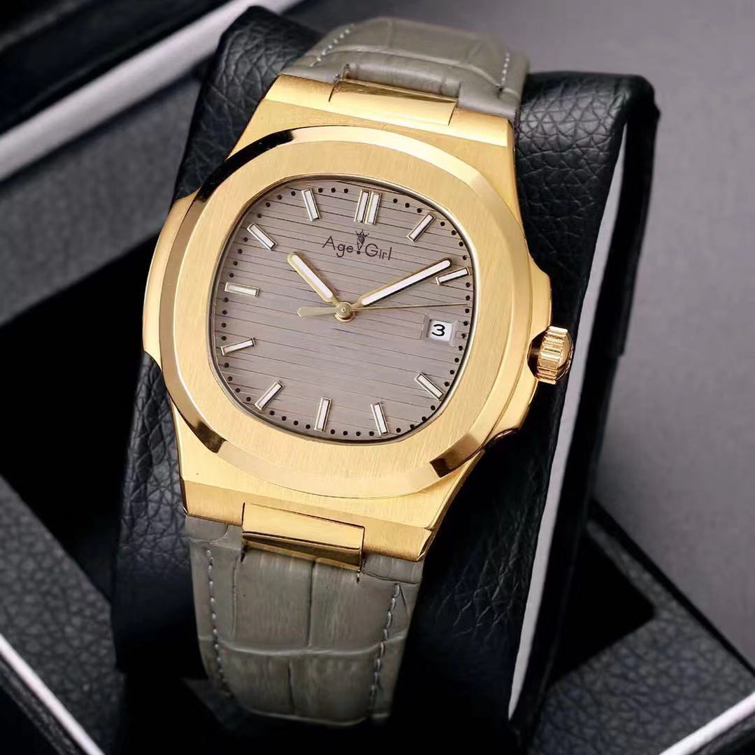 Здесь можно купить  Luxury Brand New Automatic Mechanical Men Watch Yellow Gold Sapphire Stainless Steel Transparent Glass Back Grey Blue White AAA+  Часы
