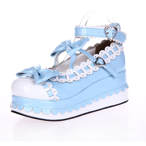 Princess sweet lolita shose Lolilloliyoyo antaina lolita shoes platform shoes laciness bow princess shoes 9896 white cosplay