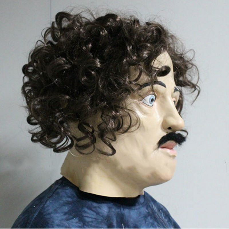 2018 Eco friendly Deluxe Quality Halloween Latex Accoutrements Edgar Allan Poe Mask in Party Masks from Home Garden