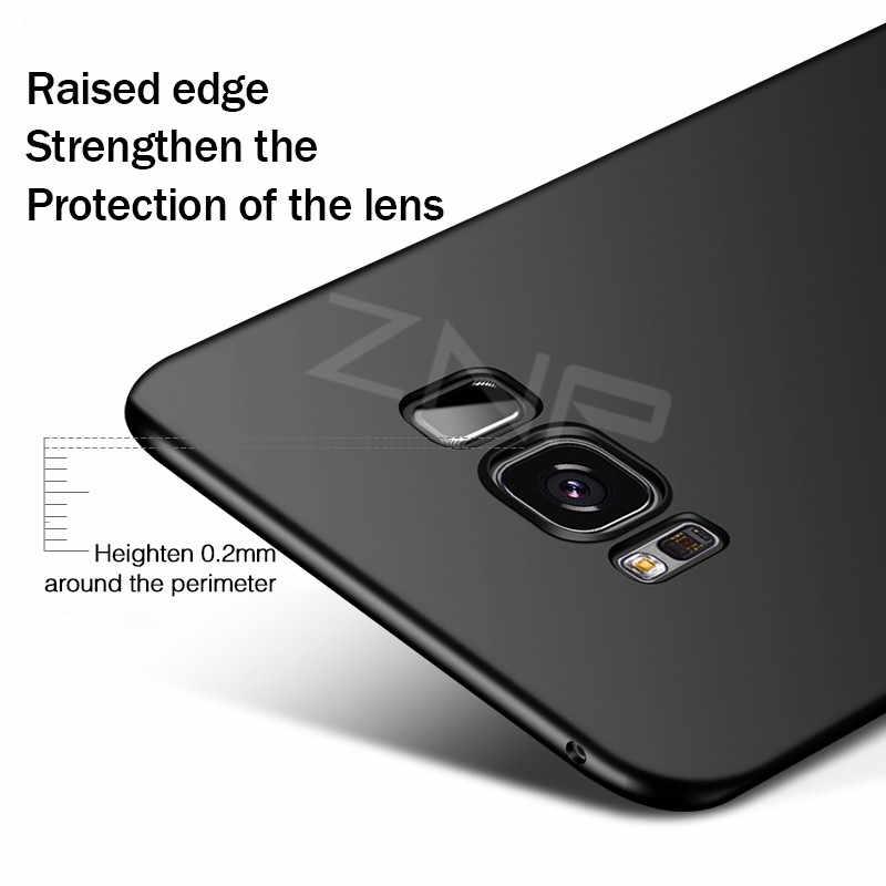 ZNP Luxury Slim สำหรับ Samsung Galaxy S9 S8 Plus หมายเหตุ 8 Hard PC โทรศัพท์สำหรับ Samsung S7 edge S7 S8 S9 กรณี Shell