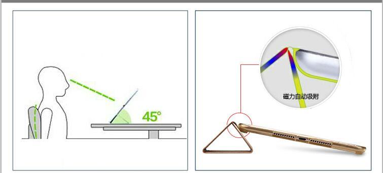 Kena pehme silikoonist tagasi magnetne puitnahast ümbris Apple ipad - Tahvelarvutite tarvikud - Foto 5