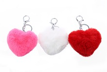 Fur brand bag key chain Genuine Rex Rabbit Fur Ball Pendant Cell phone Car keychain Bag charm key chain Free shipping недорого