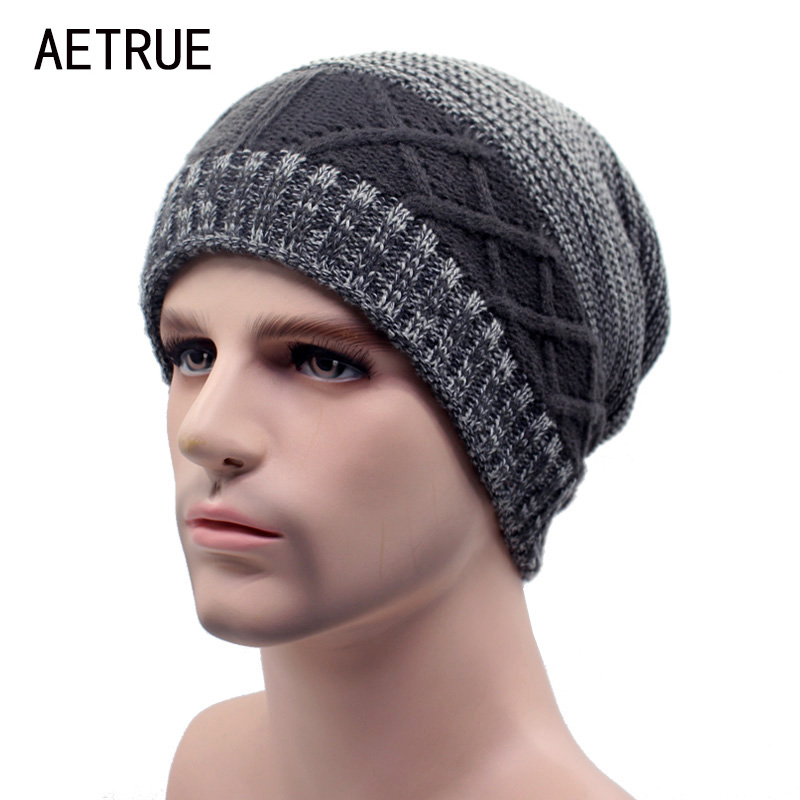 AETRUE Winter Beanie Knit Hat Skullies Beanies Men Caps Warm Baggy Balaclava Mask Fashion Winter Hats For Men Women Knitted Hat aetrue beanies knitted hat winter hats for men women caps bonnet fashion warm baggy soft brand cap skullies beanie knit men hat