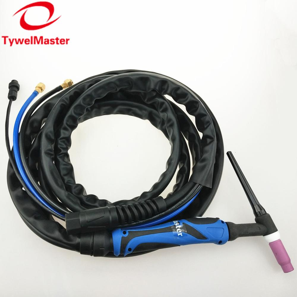 WP18 Water Cooled TIG Torch W350 TIG Gun Argon TIG Welding Torch 4m 13ft Cable WP-18 TIG Torch