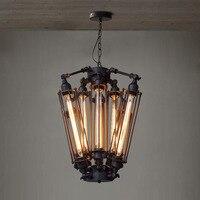 Vintage American Style RH Lofts Pendant Light Steampunk Industrial Metal Pendant Tube Lamp Coffee Bar Restaurant Lights