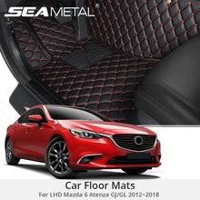 Для LHD Mazda 6 GJ GL 2018 2017 2016 2015 2014 автомобильные коврики на заказ коврики авто Интерьер коврик для ног колодки аксессуары автомобиля-Стайлинг