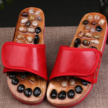 1 Pair Pebble Stone Foot Massage Slippers Reflexology Feet Elderly Acupuncture Health Shoes Sandals Slippers Healthy Massager