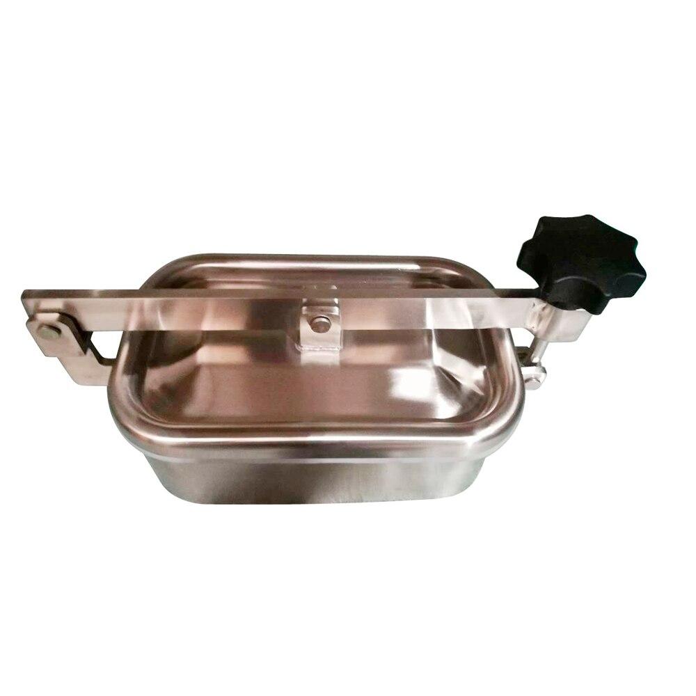 Couvercle de trou d'homme rectangulaire en acier inoxydable sanitaire SS304
