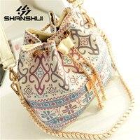 SHANSHUI High Quality Canvas Women Handbag High Quality Lady Shoulder Bag Female Totes Purse Clutch Crossbody