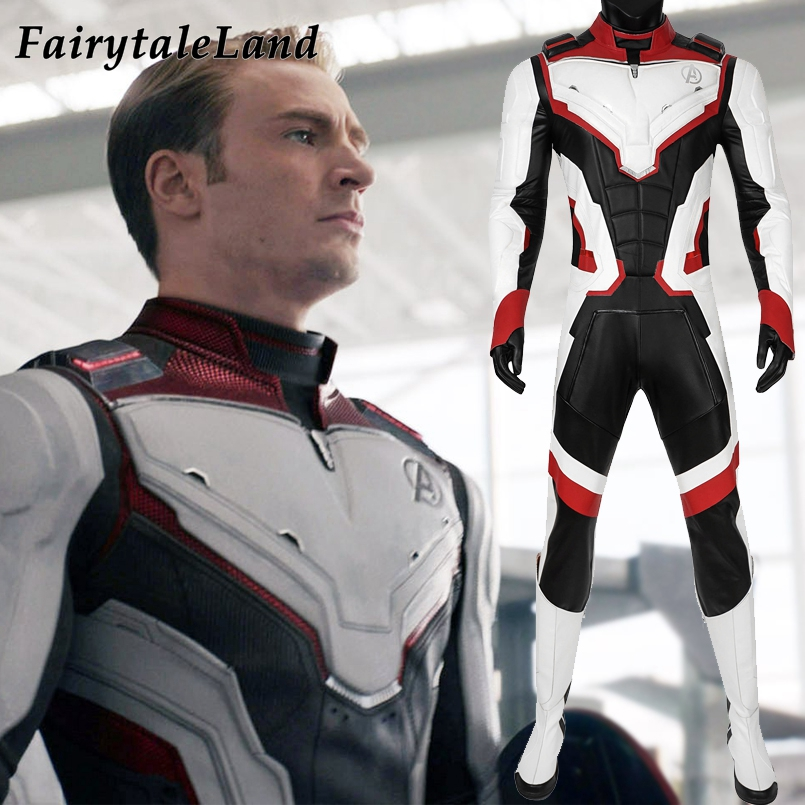 Avengers Endgame Quantum Realm Team Jumpsuit Cosplay Captain America Thor Ant-Man Costume Halloween Fancy Superhero Outfit
