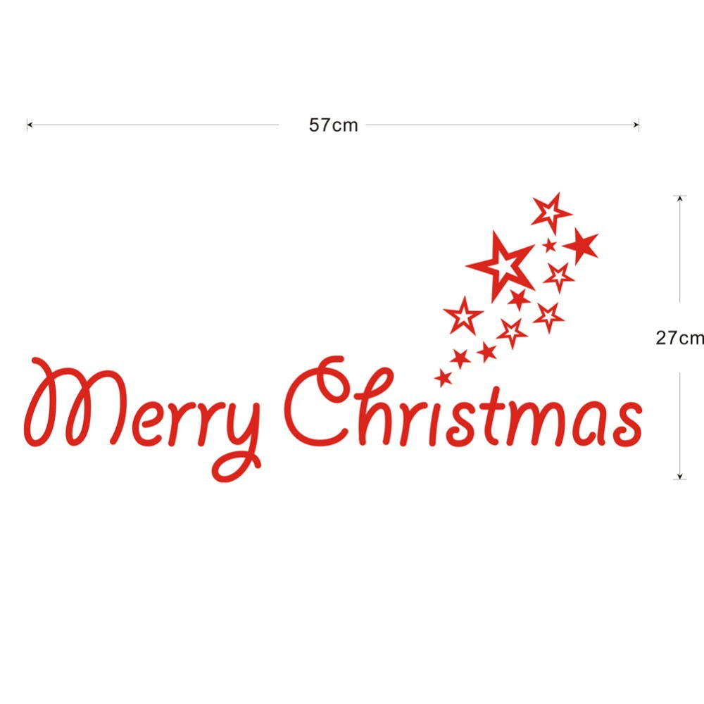 merry christmas decal vinyl decal words door decoration holiday christmas seasonal housewares xmas08 in wall stickers from home garden on aliexpresscom