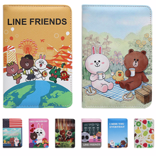 Cute Cartoon Travel Passport Clip Short Passport Bag  Anti-degaussing Document Pack Passport Holder Passport Cover