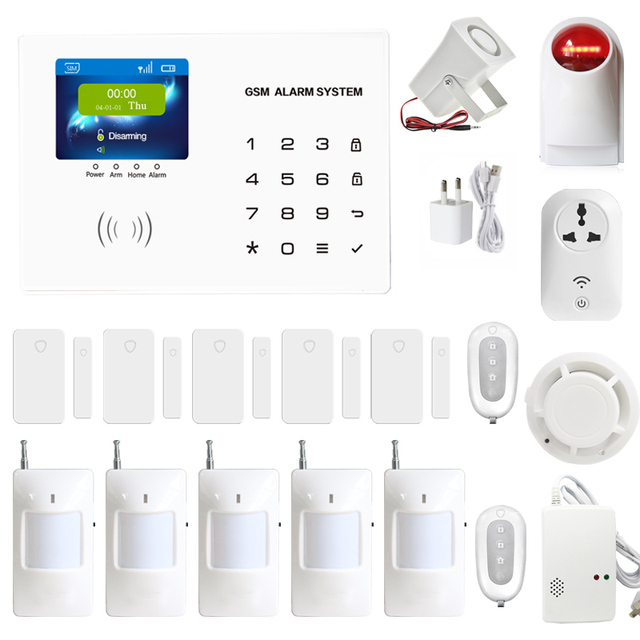GSM alarm system Home anti burglar security GSM Alarm System IOS/Android App control Autodial Home Security alarm system