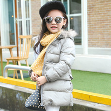 Children s Clothing Down 2016 Winter New Boys and Girls Hooded Down Jacket and Long Sections