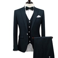 brand 2017 new arrivals latest coat pant designs wedding suits for men deep green slim mens prom suits single breasted button