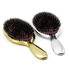 Nueva Llegada Moda Estilo Paddle Brush Smooth Surface Streamline Mango Peluquería Brush Big Cushion Jabalí Cerda Masaje Peine