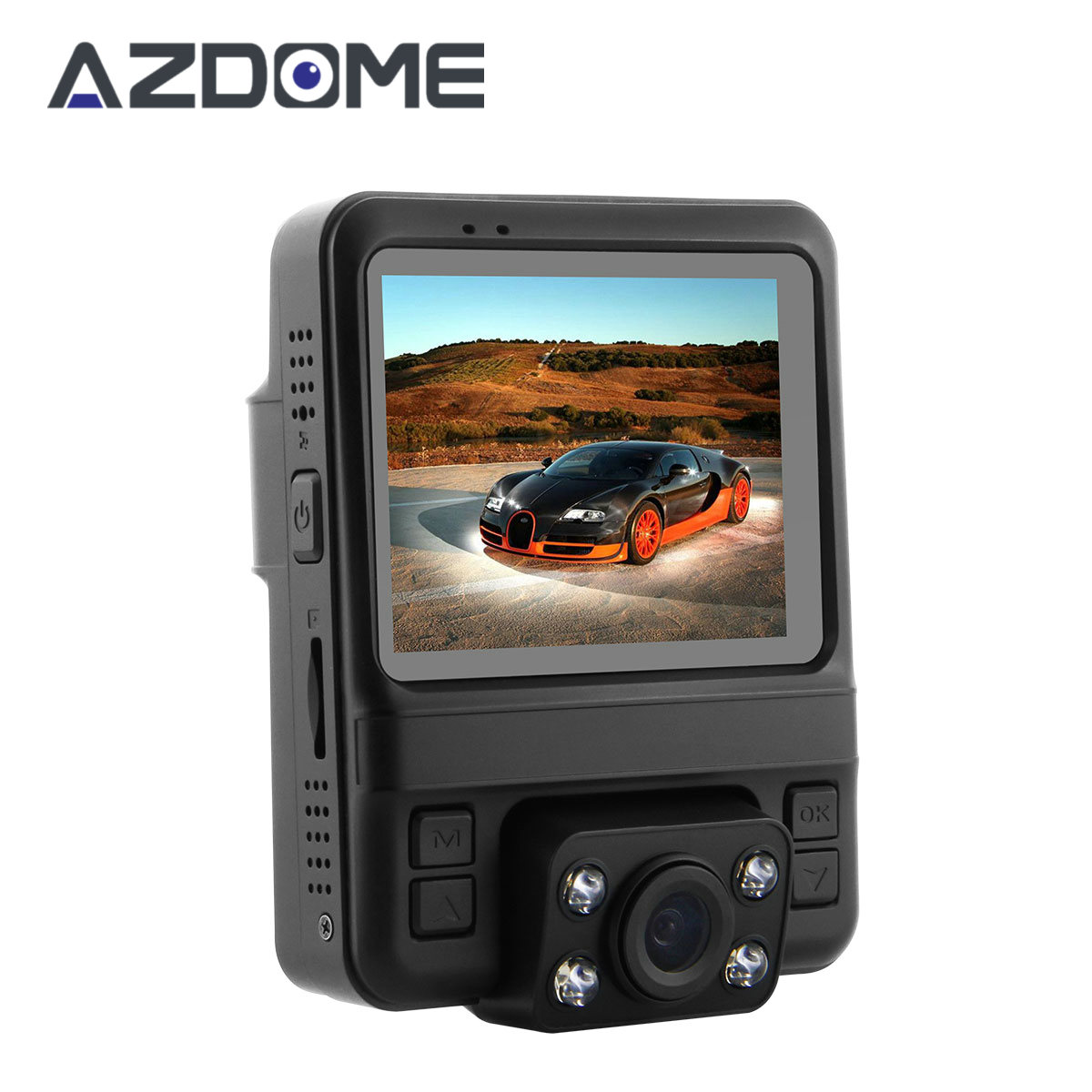 Azdome GS65H Dual Lens Car DVR Novatek 96655 Car Camera 1920x1080P Full HD Dash Cam Built-in GPS Video Recorder Night Vision H46 junsun car dvr camera video recorder wifi app manipulation full hd 1080p novatek 96655 imx 322 dash cam registrator black box