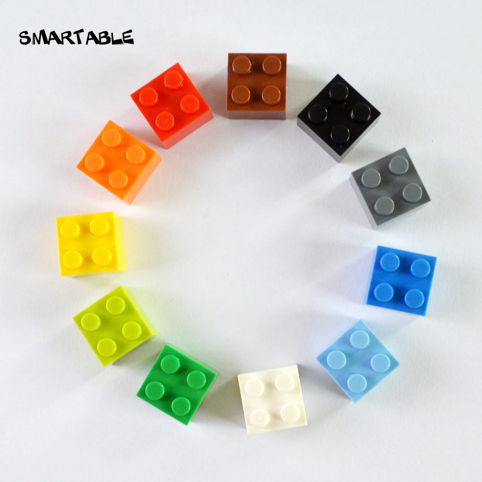 Smartable 2X2 High Bricks Particles Classic Small Building Blocks Parts DIY Toys Compatible Legoing Toys 75pcs/lot smartable base plate for small bricks baseplates 50 50 dots diy building blocks compatible legoing toys christmas gift 2pcs lot