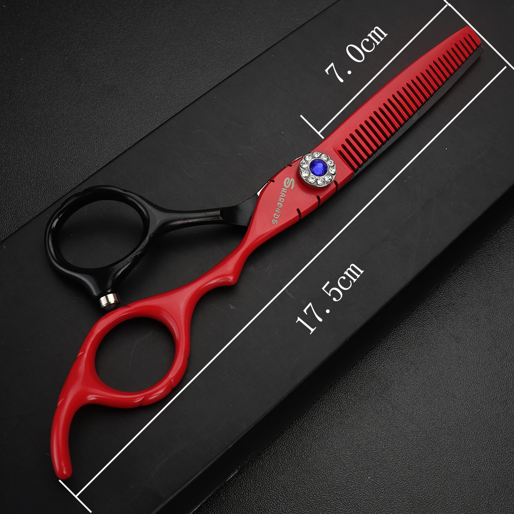 Купить с кэшбэком Hair scissors barber professional 6 inch bird shear hair salon sharonds scissors set kit hairdressing tesoura berber makas