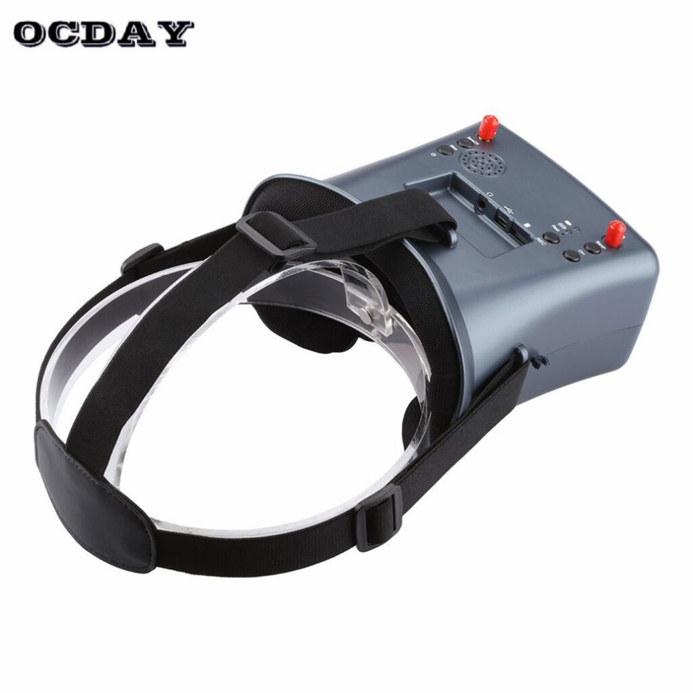 LS-008D 5.8G FPV Googles vr glasses High Quality 40CH With 2000mA Battery DVR Diversity For RC Model 92% Transparent Lens fi high quality transparent lens square oversized sunglasses