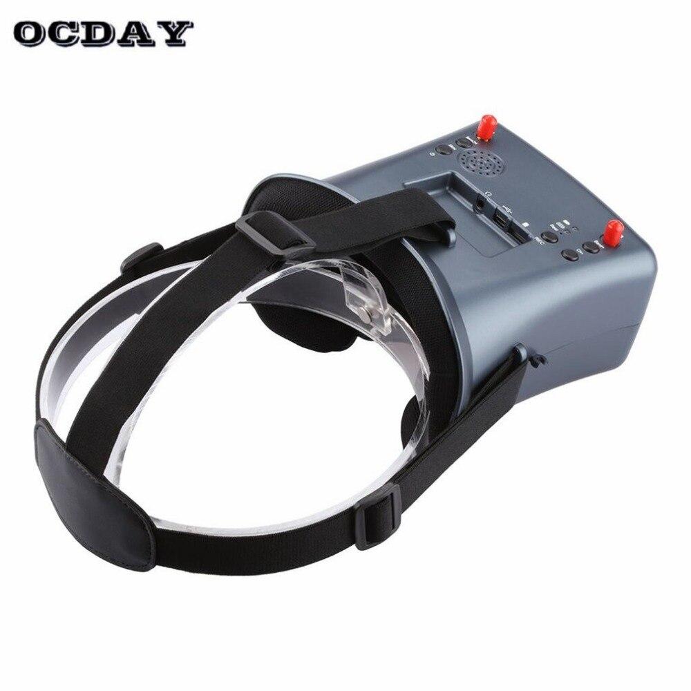 LS-008D 5.8G FPV lunettes vr haute qualité 40CH avec batterie 2000mA diversité DVR pour modèle RC 92% lentille transparente fi