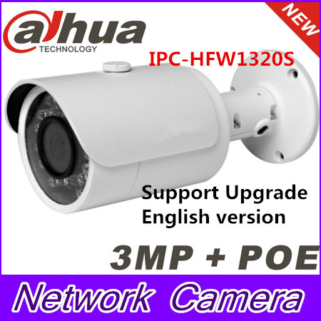 Dahua Original English version firmware upgradable IPC-HFW1320S 3MP 1080P IP POE Onvif outdoor IR Network CCTV security Camera original joyetech cuboid starter kit 150w cuboid temp control mod firmware upgradable cubis atomizer 3 5ml tank capacity