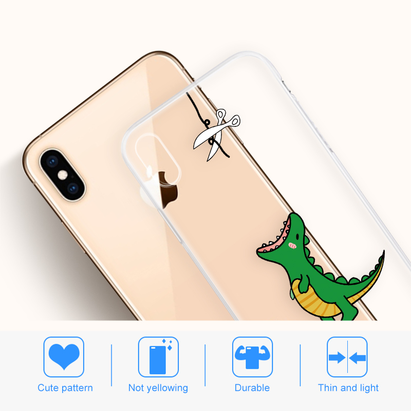 Soft Silicone TPU Cool Pattern Phone Shell For iPhone Models 10