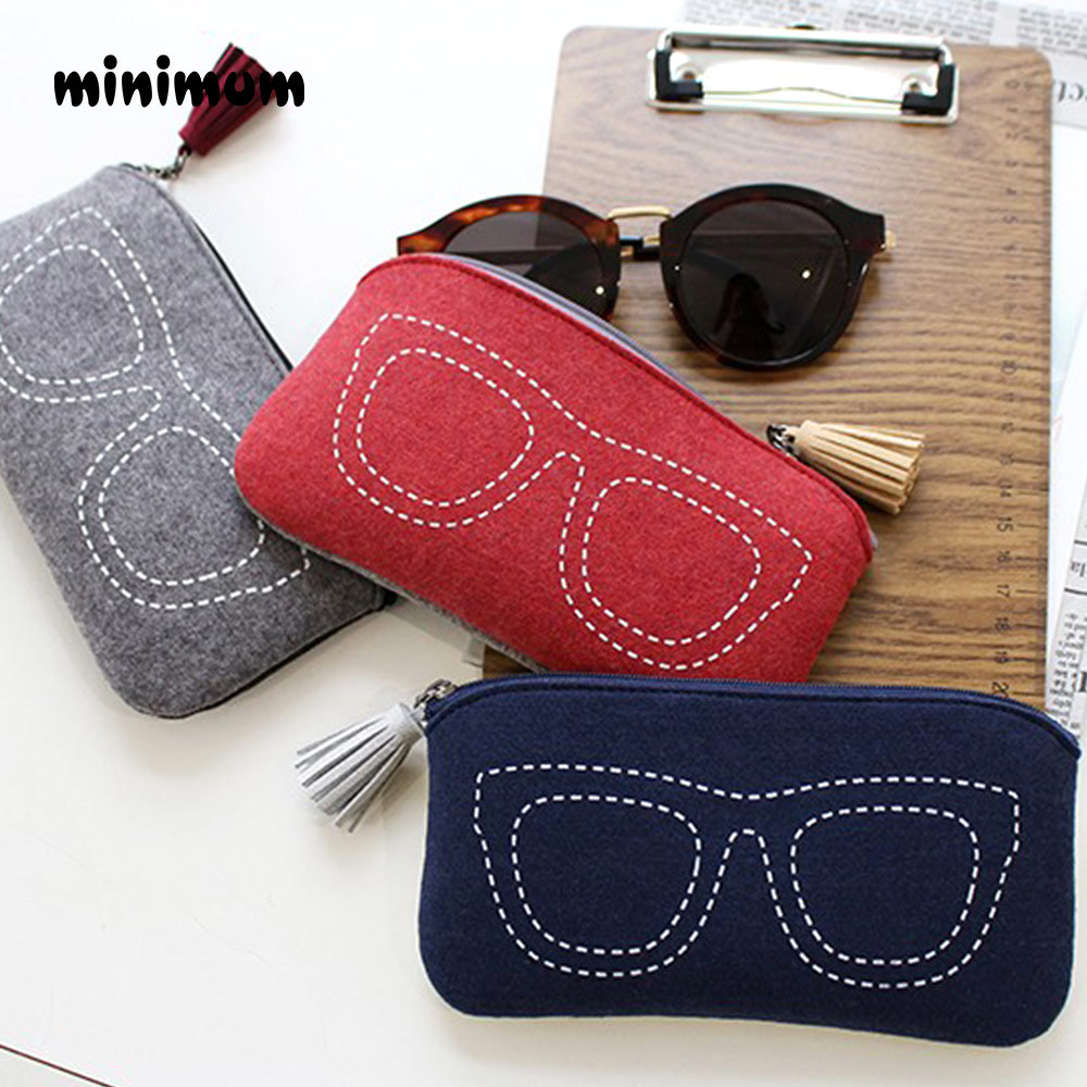 MINIMUM Top-grade Felt Cloth Sunglasses Boxes High Quality Luxury Fabric Glasses Case Eyeglasses Accessories Light Easy To Carry