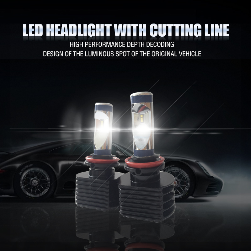 ФОТО KSEGA Hot Selling Super Bright Auto Fari H7 LED Headlight HB3/9005 HB4/9006 80W 8000lm With Canbus Auto mortorcycle parts H16
