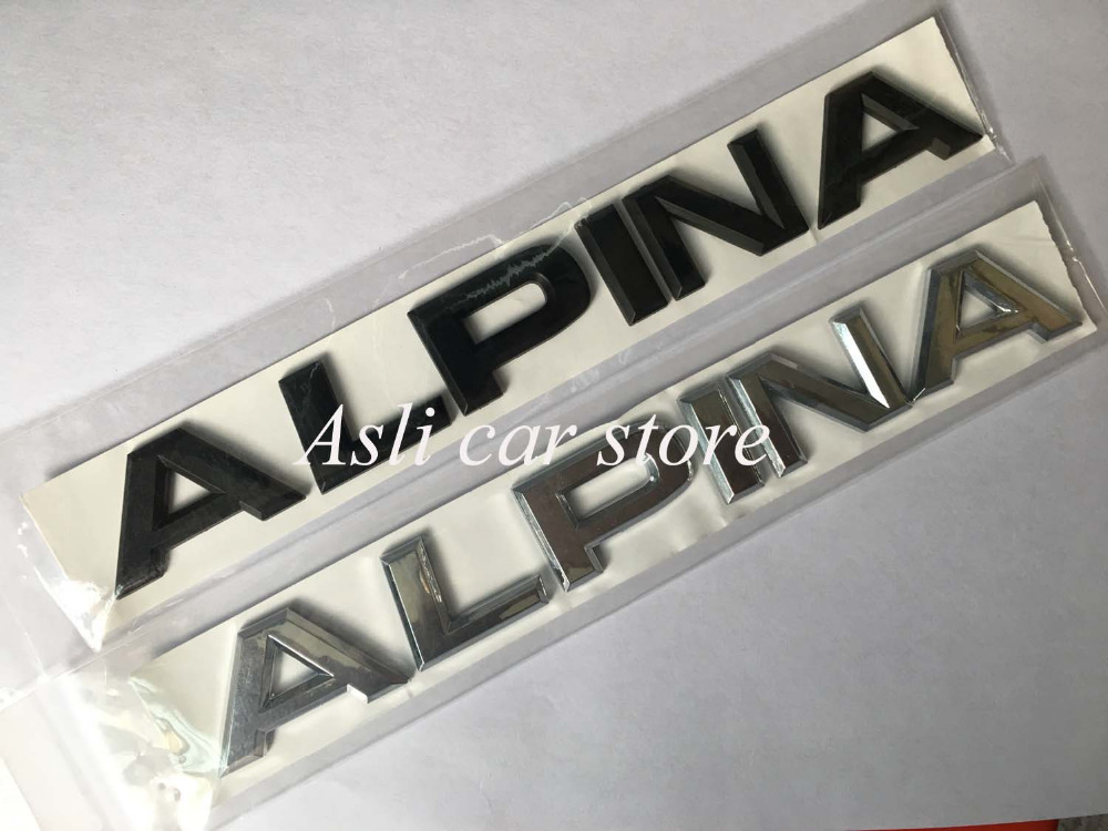 Metal Alpina Car Rear Tail Emblem Badge Decal Sticker For BMW M3 X5 E36 B5 Z4