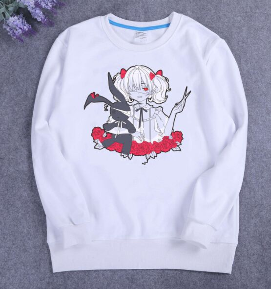 Japanese Cute Girl Harajuku Style Childlike Hoodie Japanese Letter Printing Fleece Lined Thicken Loose Student Women Hoodie