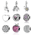 Fit Original Pandora Charms Bracelet Bangle 2017 Summer Mickey Minnie Sparkling Icon Charm With Mix CZ 925 silver Beads Jewelry