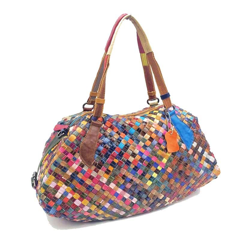 Famous Brand Women Designer Messenger Bags fashion Genuine Leather Top handle Tote Patchwork Hobo Shoulder Bags