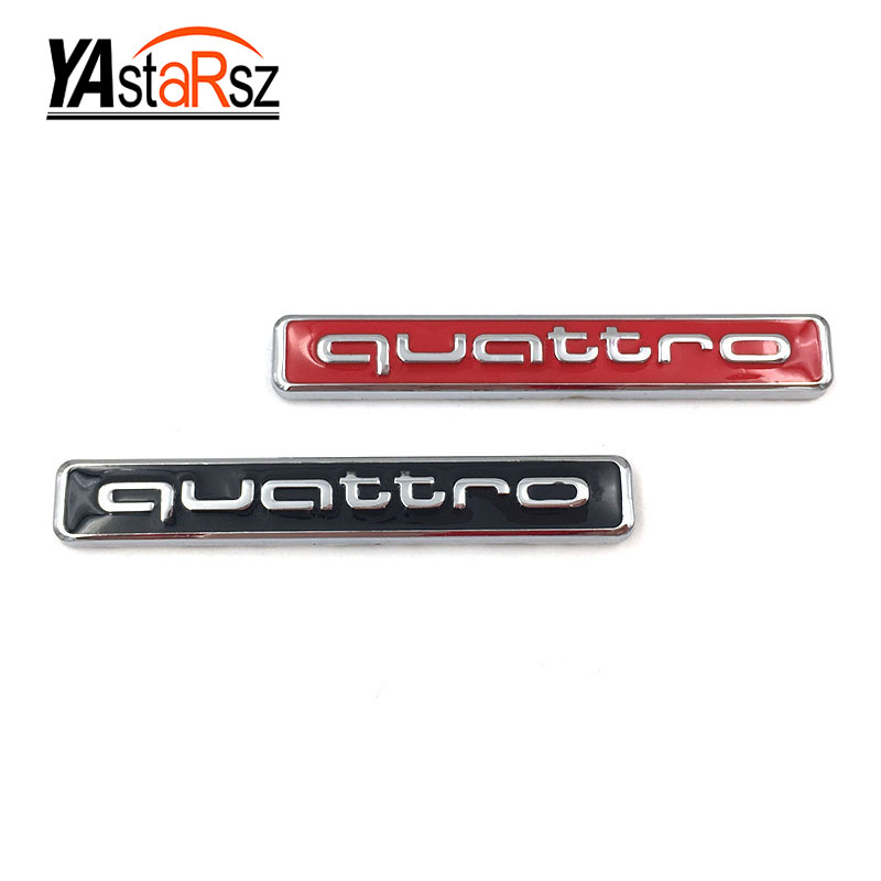2017 Hot Sale High Quality New Auto car metal QUATTRO sticker emblem for Audi A4 S4 RS4 A6 TT A3 Emblem Badge Sticker free ship turbo k03 29 53039700029 53039880029 058145703j n058145703c for audi a4 a6 vw passat 1 8t amg awm atw aug bfb aeb 1 8l