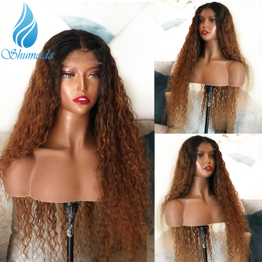 13 6 Frontal Lace Wig with Baby Hair Brazilian Kinky Curly Human Hair Wigs for Women